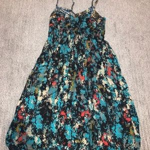 Paint-splatter style mini dress